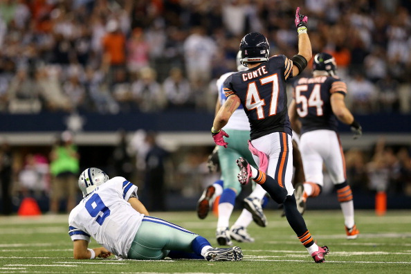 Bears D Lowers the Boom on Romo and the Cowboys in 34-18 Route